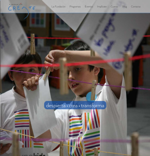 Fundacion Create website image