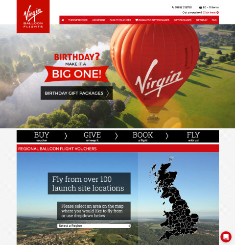 Virgin website image